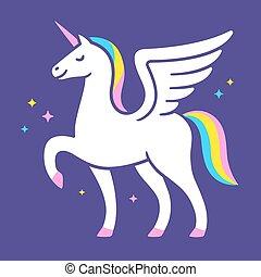 Unicorn logo illustration