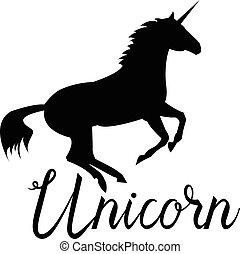 Unicorn mythical horse