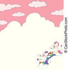 Unicorn on sky template