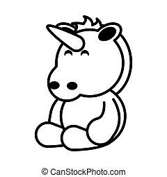 unicorn on white background, baby toys