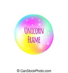 Unicorn or mermaid frame