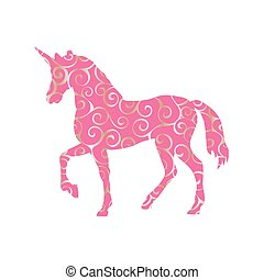 Unicorn pattern silhouette mythology symbol fantasy