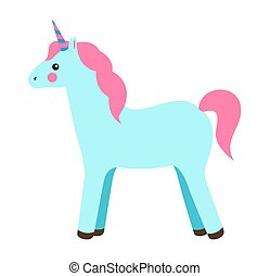 Unicorn Princess Party Poster Vector Illustration