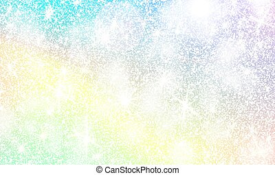 unicorn rainbow background holographic sky in pastel color bright mermaid pattern in princess drawing csp66118095