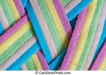 Unicorn Rainbow candy stripes