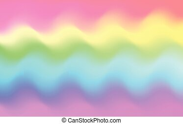 unicorn rainbow wave background mermaid galaxy pattern pastel pink blue green yellow violet drawing csp58948896
