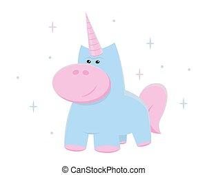 Unicorn vector. Cute illustration for print.