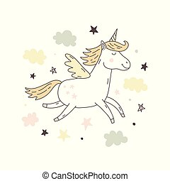 Unicorn Vector cute poster