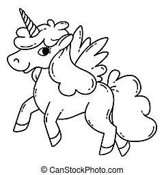 Unicorn with wings.