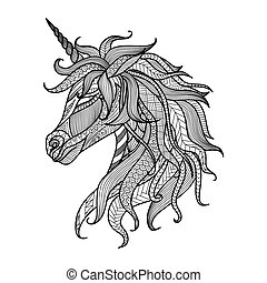 Unicorn zentangle