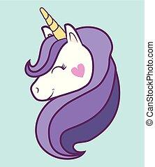 unicornios, diseño, mágico