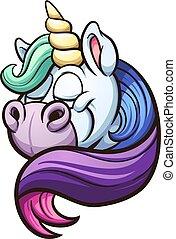 unicorno, arcobaleno, criniera