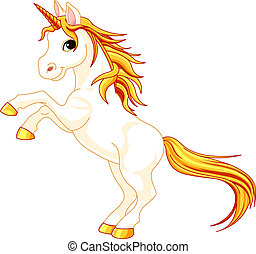 unicorno, su, allevamento