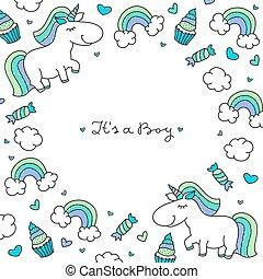 unicorns and rainbows frame