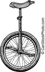 unicycle, イラスト