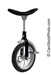 Unicycle - a one-wheeled unicycle driven by pedals, used in...
