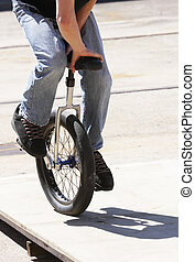 Unicycle - A rider on a unicycle