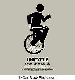 Unicycle Graphic Sign.