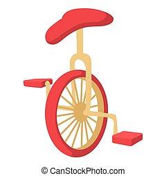 Unicycle icon, cartoon style - Unicycle icon. Cartoon...