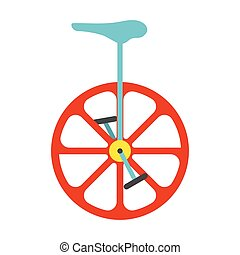 Unicycle icon. Vintage Vector illustration.