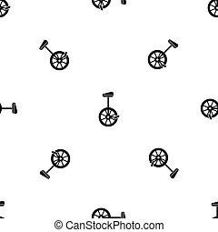 unicycle, modello, nero, seamless