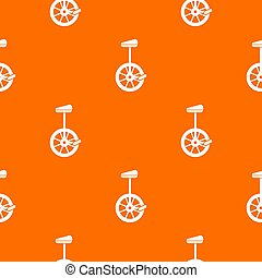 Unicycle pattern seamless