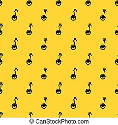 Unicycle pattern vector