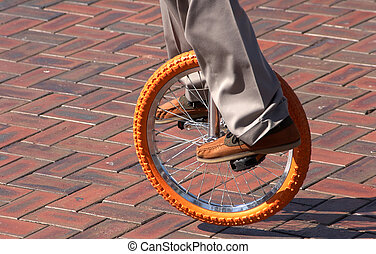 Unicycle - Performer on a unicycle