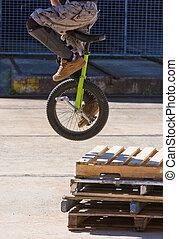 Unicycle Stunt