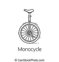 Unicycle Vector Illustration
