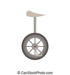 Unicycle vector isolated bicycle wheel illustration cycle one circus icon design.