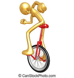 Unicycling - A Concept And Presentation Figure In 3D