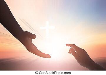 unidad, concept:silhouette, esperanza, helpping, mano, paz, internacional, día, concepto