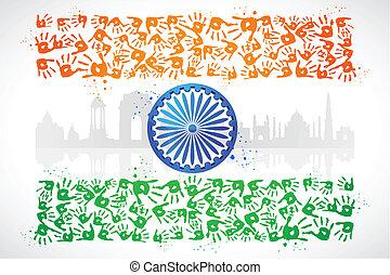unidade, de, índia