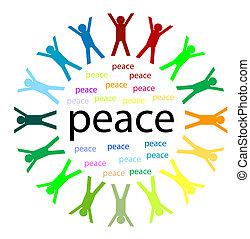 unidade, e, paz
