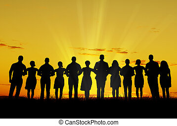 unidade, homens, mulheres