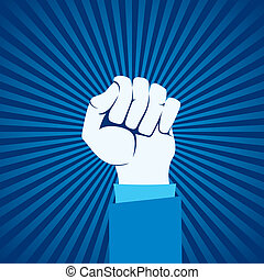 unidade, mão, mostrar