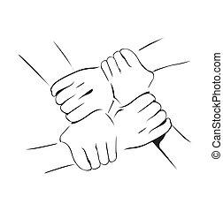 unidade, mão