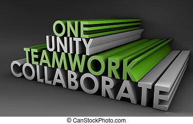 unidade, trabalho equipe