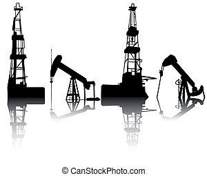 unidades, óleo, recuperação