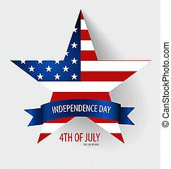 unidas, f, america., estados, americano, cartão, dia,...