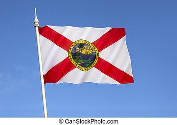 unidas, flórida, -, estados, bandeira, américa