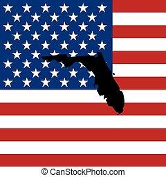 unidas, flórida, -, ilustração, estados, estado, américa