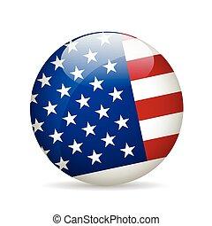 unidas, illustration., flag., estado, vetorial, américa