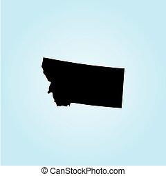 unidas, -, ilustração, estados, estado, montana, américa