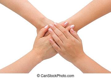 unidas, mãos