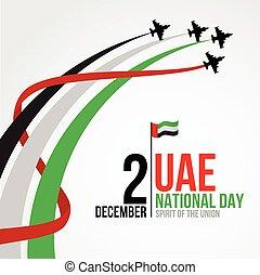 unidas, nacional, árabe, emirates, fundo, dia