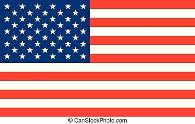 unidas, nacional, america., ilustração, estados, bandeira, vetorial