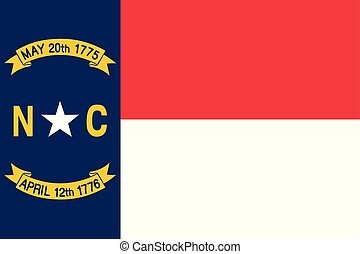 unidas, norte, illustration., flag., estados, america., vetorial, raleigh, carolina