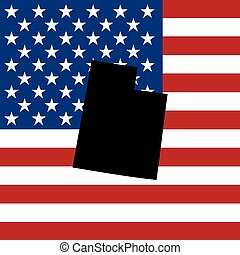 unidas, utah, -, ilustração, estados, estado, américa